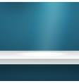 Mock up Shelf on blue vector image