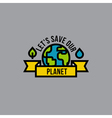 Environment day green concept with globe vector image