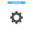 settings icon flat cogwheel icon vector image
