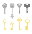Golden and Silver Key Set vector image