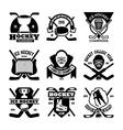 Ice Hockey Badges vector image