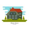 alpine house vector image vector image