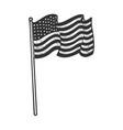 american flag sketch vector image