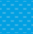 audio cassette pattern seamless blue vector image