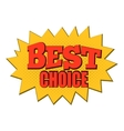 Best choice comics icon vector image