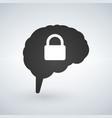 Brain lock brain security logo design isolated on