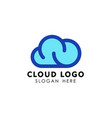 cloud logo design template icon vector image vector image