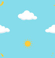 cloud moon and sun on blue background seamless vector image