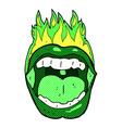 Comic cartoon halloween mouth