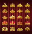 crown monarch power symbol monarchy corona set vector image vector image