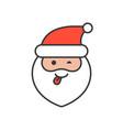 cute santa claus emoticon filled outline design vector image