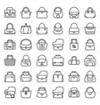 fashion bag outline icon in various style such as vector image