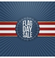 Flag Day Sale realistic Badge with Ribbon vector image vector image