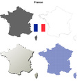 France outline map set vector image vector image