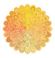golden abstract floral mandala design - digital vector image vector image