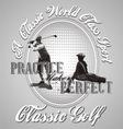 golf practice vector image
