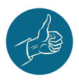 hand like gesture vector image