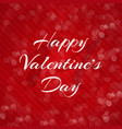 happy valentine39s day inscription on a red vector image vector image