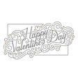 Happy Valentines Day card Hand drawn vector image vector image