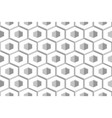 hexagon abstract geometric seamless honeycomb vector image