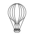 hot air balloon adventure fly travel vector image vector image