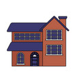 house real estate on white background vector image vector image