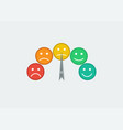 indicators color scale emotions with arrow from vector image vector image
