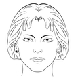 Ink sketch head women face pattern