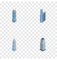 isometric construction set of apartment exterior vector image vector image