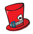 mad hatters hat vector image