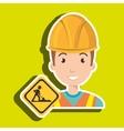 man construction drill helmet vector image vector image