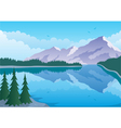 mountain lake vector image
