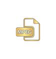 MPEG computer symbol vector image vector image