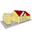 new build house vector image vector image