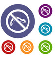 no caterpillar sign icons set vector image vector image