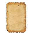 old antique paper parchment scroll over white vector image