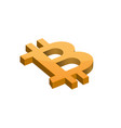 orange bitcoin symbol vector image vector image