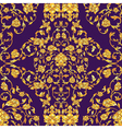 ornate seamless pattern in Eastern style on deep vector image
