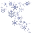 Pattern of snowflakes vector image