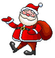 pixel funny santa detailed isolated vector image