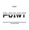 point font alphabet vector image