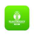 power station icon green vector image vector image