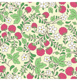 raspberry and green leaves vector image vector image