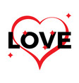 red heart outline on a white background vector image