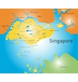 Republic of Singapore vector image vector image