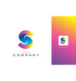 s logo letter with rainbow vibrant beautiful vector image vector image