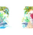 sea border background vector image