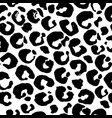 seamless black and white leopard pattern animal vector image vector image