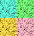 Seamless stylish pattern with hearts vector image vector image