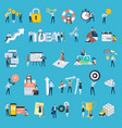 set of flat design style people icons vector image